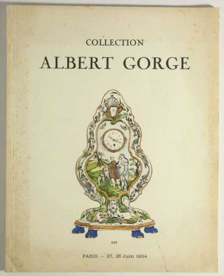 PAPE (Edouard). Collection Albert Gorge. Anciennes faïences de Rouen, livre rare du XXe siècle