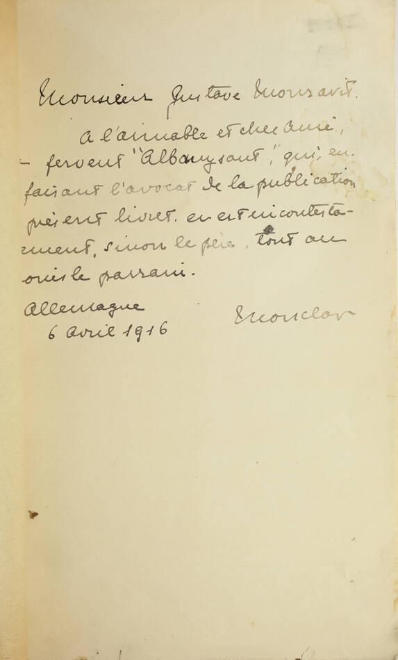RIPERT-MONCLAR - Comtesse d Albany et le chevalier de Sobirats 1916 - Envoi - Photo 2, livre rare du XXe siècle