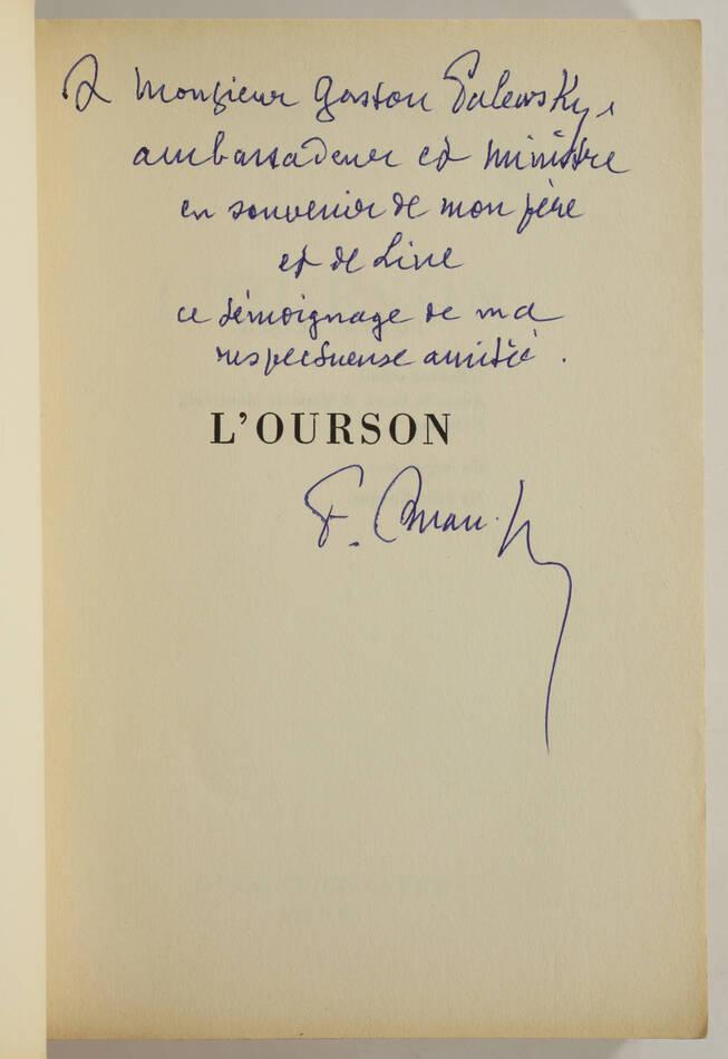 François AMAN-JEAN - L ourson - 1965 - Envoi - Photo 0, livre rare du XXe siècle