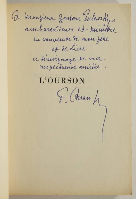 AMAN-JEAN (François). L'ourson, livre rare du XXe siècle