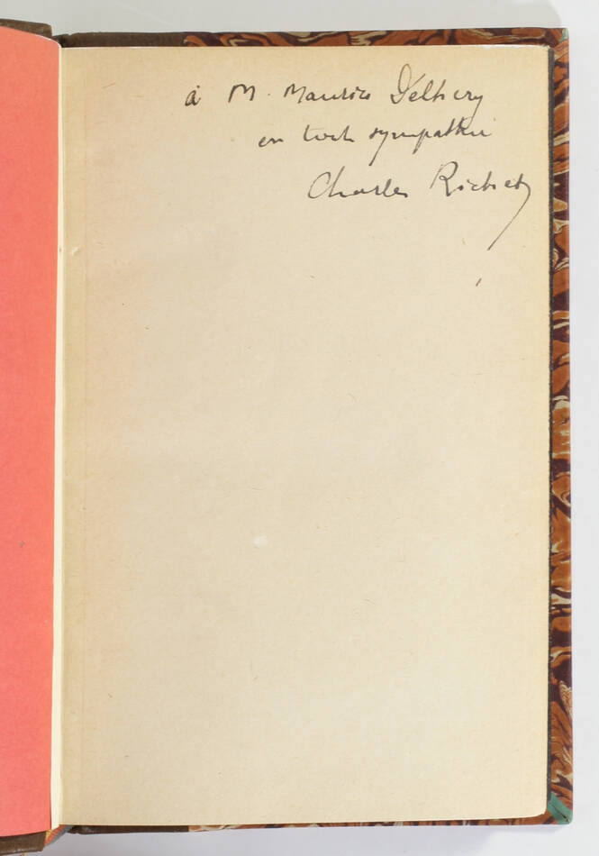 Charles RICHET - L avenir et la prémonition - 1931 - ENVOI - Relié - EO - Photo 0, livre rare du XXe siècle