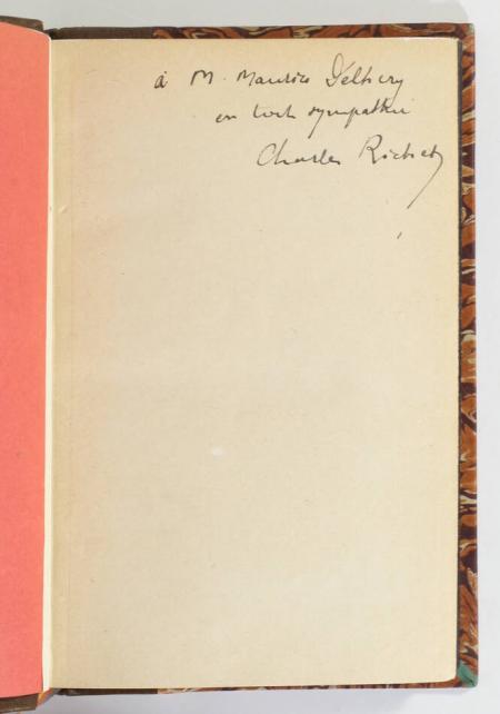 RICHET (Charles). L'avenir et la prémonition, livre rare du XXe siècle