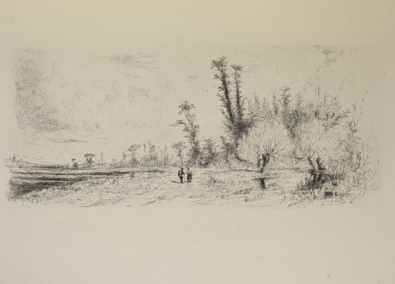 DELTEIL - Le peintre-graveur VII : Paul Huet - 1911 - Eau-forte originale - Photo 0, livre rare du XXe siècle