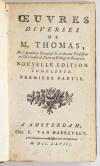 THOMAS - Oeuvres diverses - 1768 + Caractère et esprit des femmes - 1772 - Photo 1, livre ancien du XVIIIe siècle