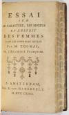THOMAS - Oeuvres diverses - 1768 + Caractère et esprit des femmes - 1772 - Photo 2, livre ancien du XVIIIe siècle