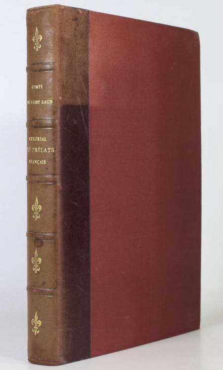 SAINT-SAUD (Comte). Armorial des prélats français du XIXe siècle, livre rare du XXe siècle