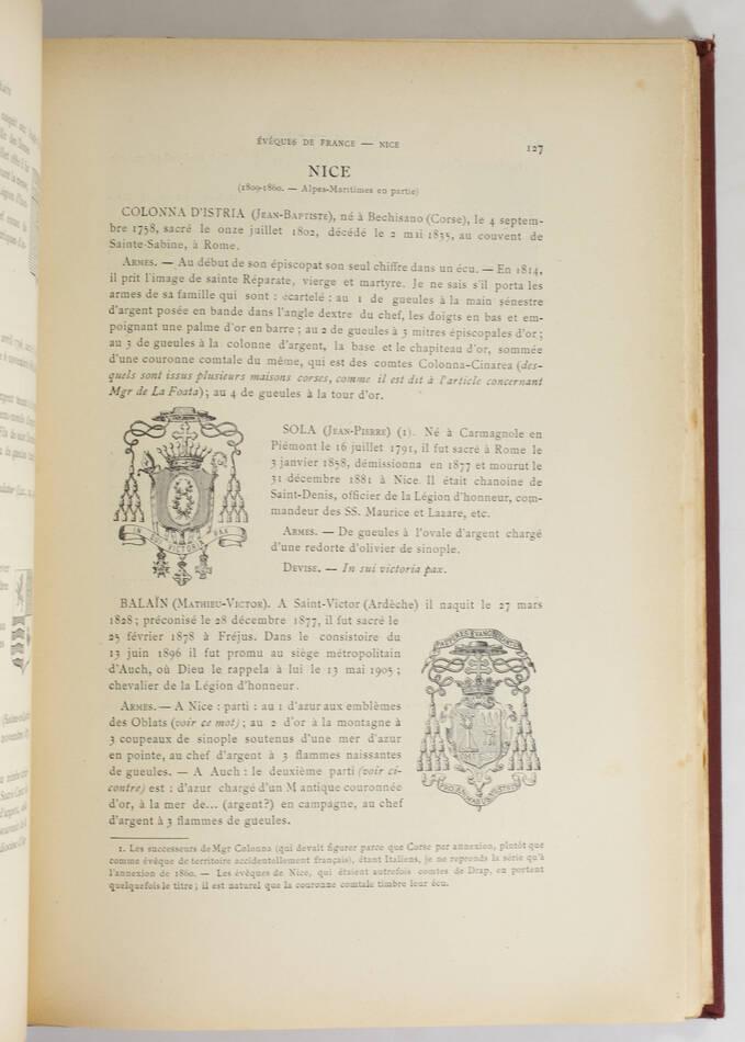 SAINT-SAUD - Armorial des prélats français du XIXe - 1906-1908 + Additions - Photo 4, livre rare du XXe siècle