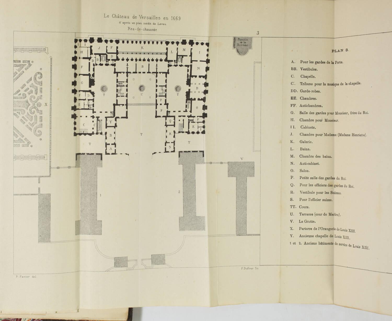 DUSSIEUX - Château de Versailles - Histoire et description - 1881 - 2 volumes EO - Photo 3, livre rare du XIXe siècle