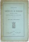 LA ROQUE (Louis de) et BARTHELEMY (Edouard de). Catalogue des certificats de noblesse, délivrés par Chérin pour le service militaire. 1781-1789