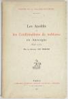 RIBIER (Docteur de). Les anoblis et les confirmations de noblesse en Auvergne. 1643-1771