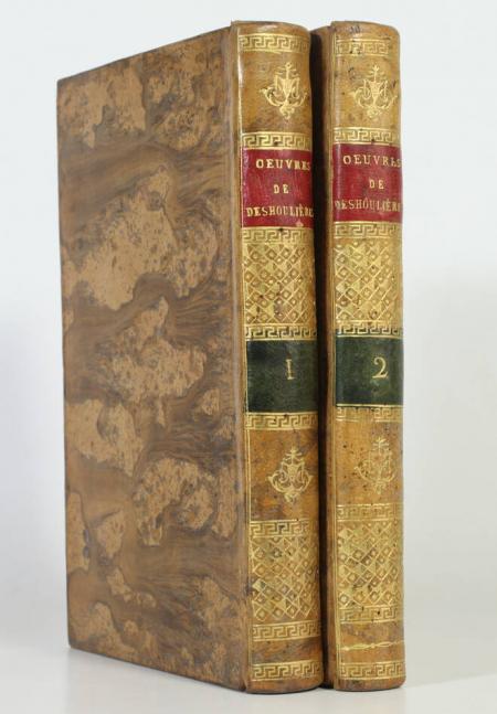 DES HOULIERES (Madame) [DESHOULIERES]. Oeuvres de Madame des Houlières. Nouvelle édition. Dédiée au sexe amateur de la poésie agréable, livre ancien du XVIIIe siècle