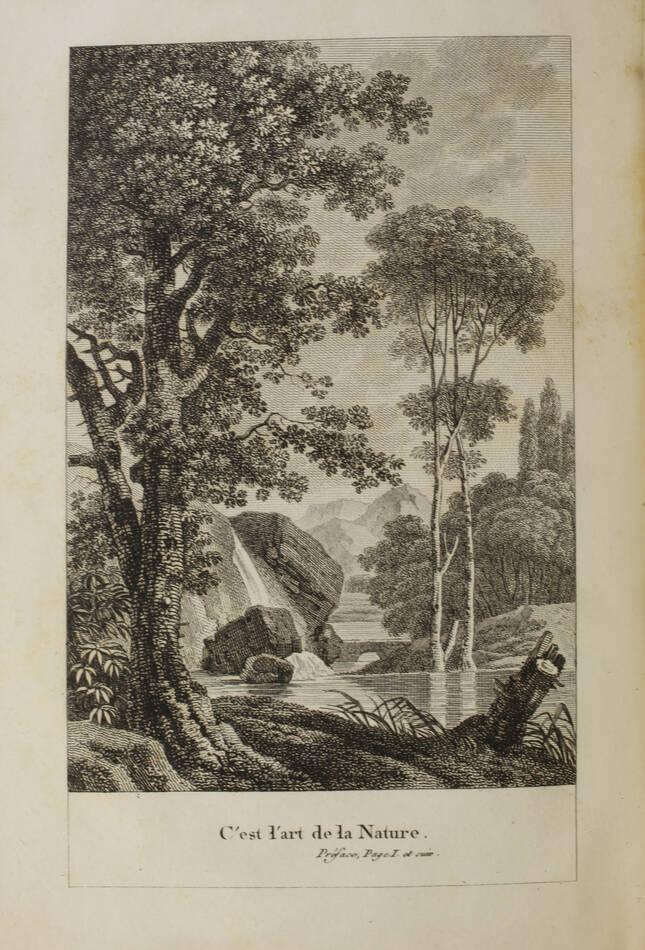 MOREL - Théorie des jardins, ou l art des jardins de la nature 1802 - 2 volumes - Photo 1, livre ancien du XIXe siècle