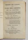 MOREL - Théorie des jardins, ou l art des jardins de la nature 1802 - 2 volumes - Photo 3, livre ancien du XIXe siècle