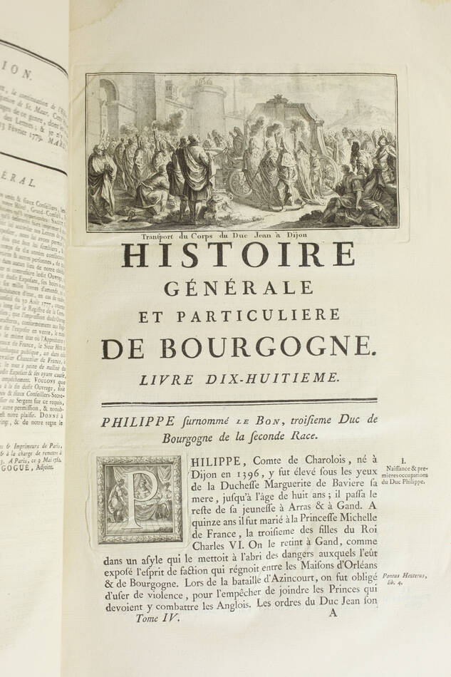 PLANCHER - Histoire générale et particulière de Bourgogne - 4 volumes - 1739-81 - Photo 20, livre ancien du XVIIIe siècle