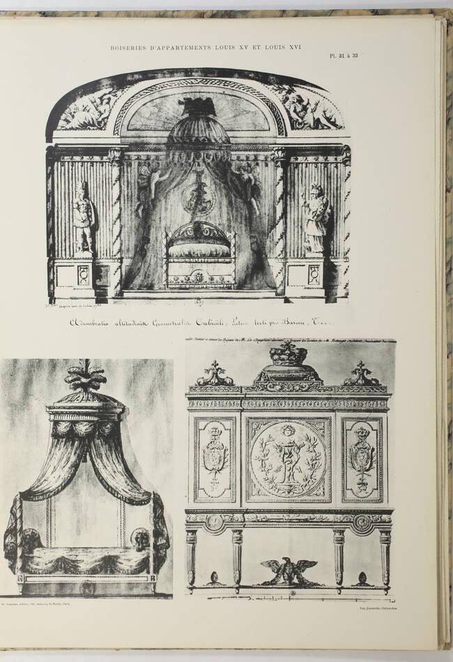 Boiseries interieurs d appartements Louis XV et Louis XVI - Planches - vers 1900 - Photo 1, livre rare du XXe siècle