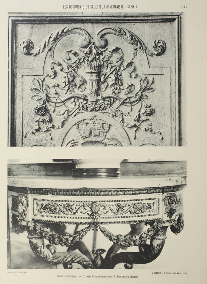 Les documents du sculpteur ornemaniste. Série 4 - Planches - vers 1900 - Photo 1, livre rare du XXe siècle