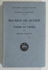 HARCOURT (Bernard d'). Maurice de Guérin et le poème en prose