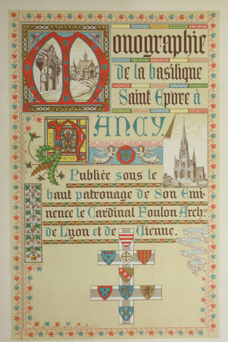 . Monographie de la basilique St Epure à Nancy, livre rare du XIXe siècle