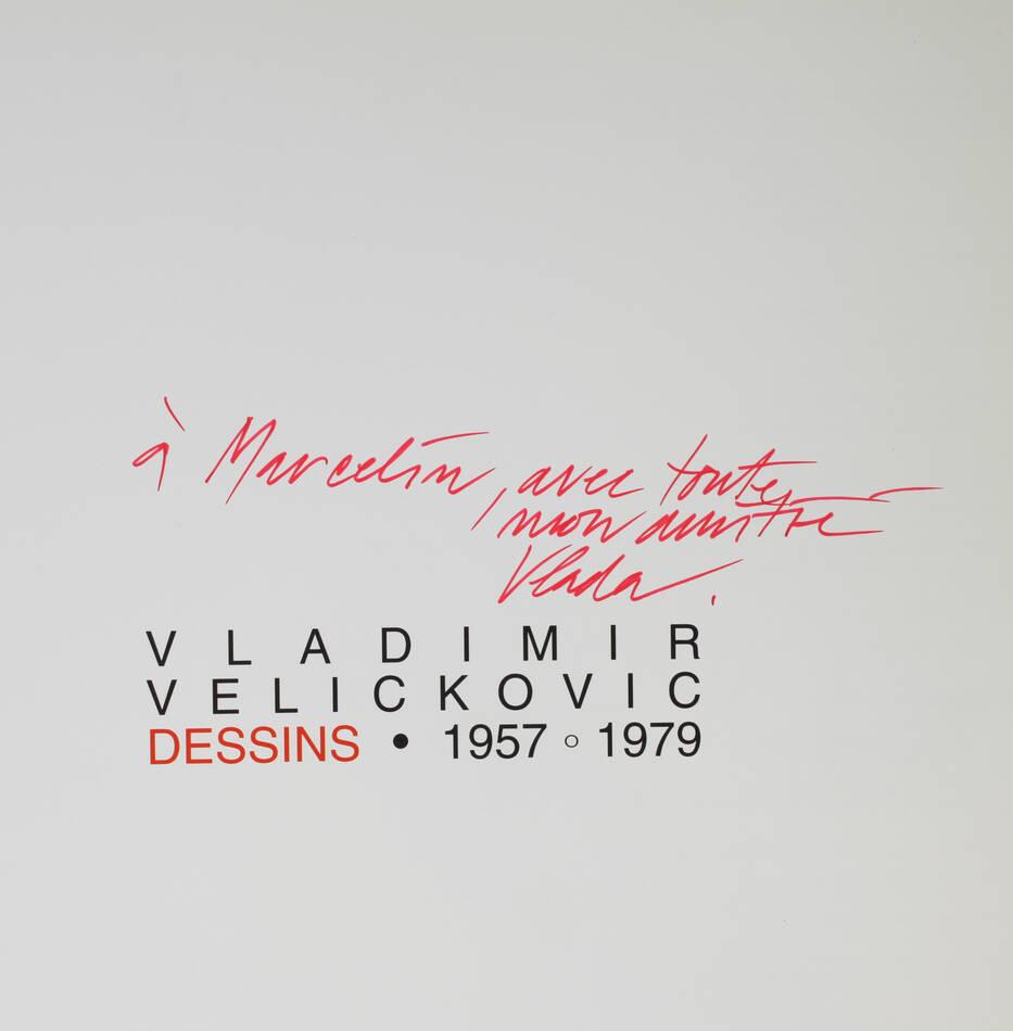 Vladimir Velickovic. Dessins, 1957-1979 - Dédicace de l artiste - 1996 - Photo 0, livre rare du XXe siècle