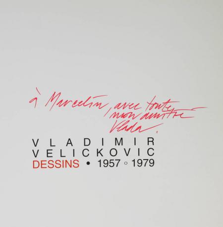 Vladimir Velickovic. Dessins, 1957-1979 - Dédicace de l'artiste - 1996 - Photo 0, livre rare du XXe siècle