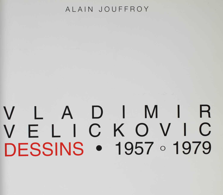 Vladimir Velickovic. Dessins, 1957-1979 - Dédicace de l artiste - 1996 - Photo 2, livre rare du XXe siècle
