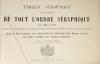 Tableau synoptique de l histoire de tout l ordre séraphique depuis 1208 - 1879 - Photo 1, livre rare du XIXe siècle