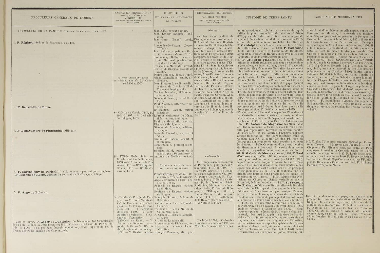 Tableau synoptique de l histoire de tout l ordre séraphique depuis 1208 - 1879 - Photo 3, livre rare du XIXe siècle