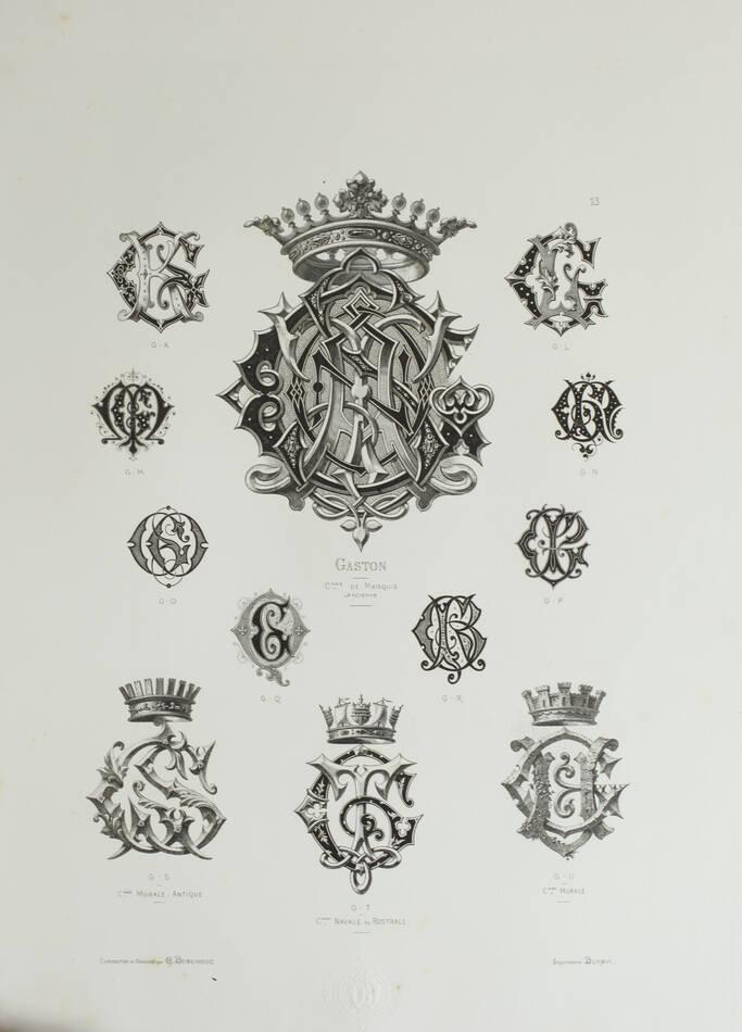 DEMENGEOT - Dictionnaire du chiffre-monogramme - 1881 - 2 volumes - Planches - Photo 6, livre rare du XIXe siècle