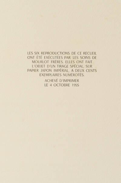 Outamaro - Le Prat, 1955 - 6 planches par Mourlot - Photo 2, livre rare du XXe siècle