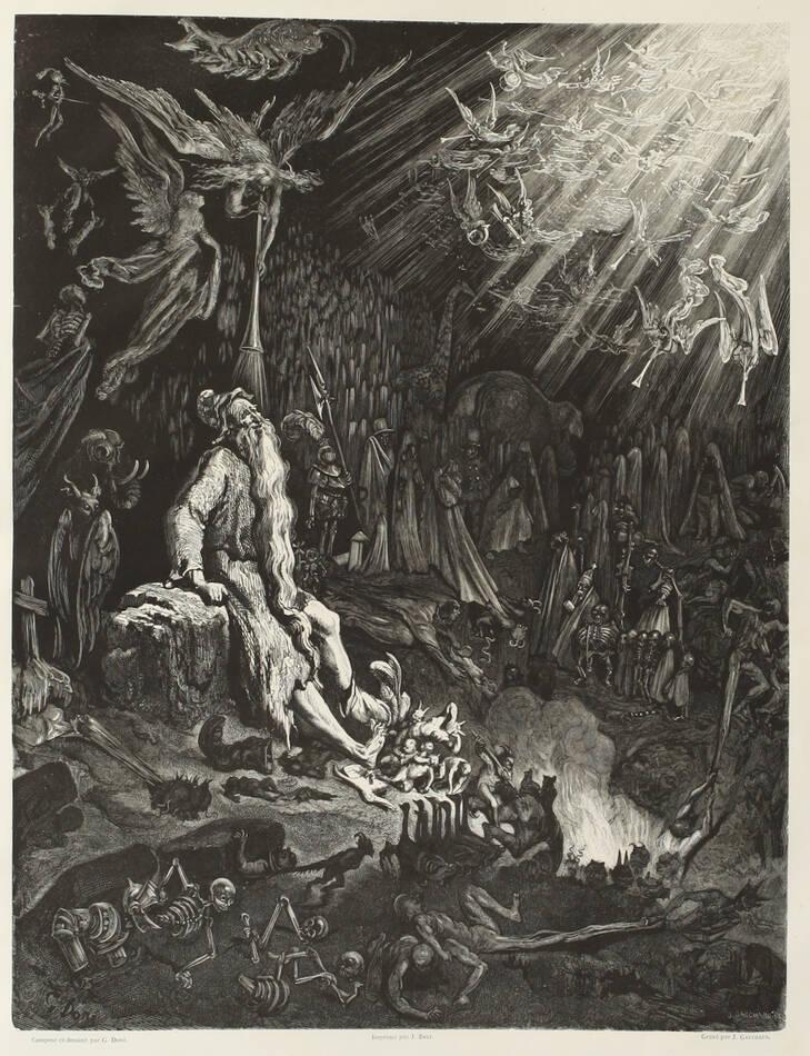 Légende du juif errant illustré par Gustave Doré 1856 - Grd in-folio, 1er tirage - Photo 0, livre rare du XIXe siècle