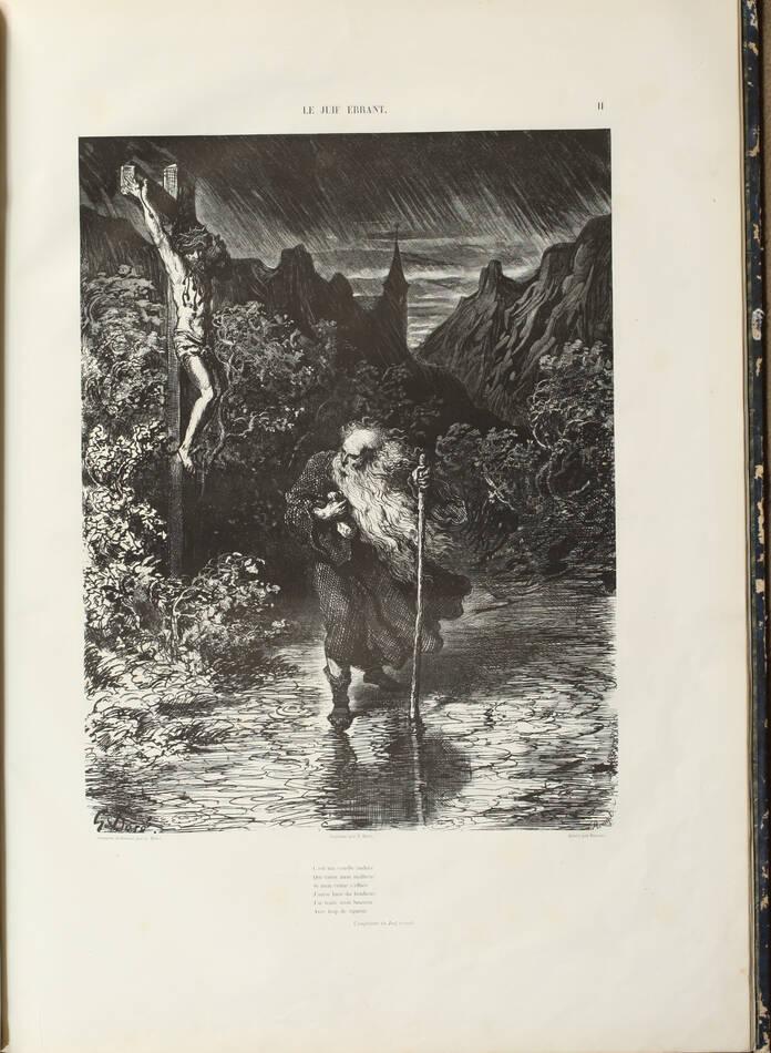 Légende du juif errant illustré par Gustave Doré 1856 - Grd in-folio, 1er tirage - Photo 2, livre rare du XIXe siècle