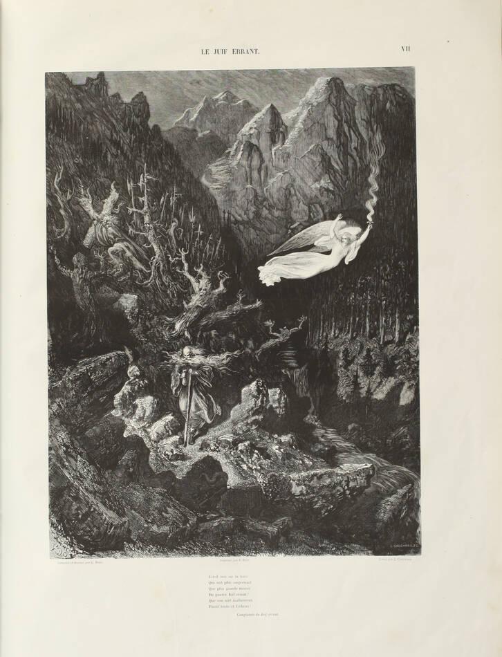 Légende du juif errant illustré par Gustave Doré 1856 - Grd in-folio, 1er tirage - Photo 4, livre rare du XIXe siècle