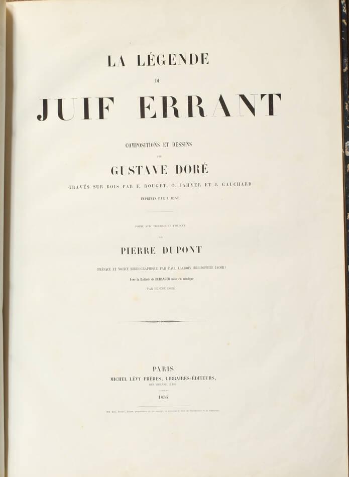 Légende du juif errant illustré par Gustave Doré 1856 - Grd in-folio, 1er tirage - Photo 7, livre rare du XIXe siècle