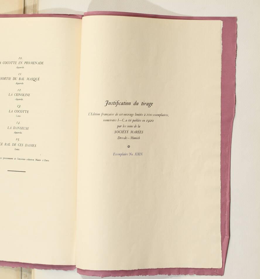 Constantin GUYS - Légendes parisiennes 1920 - In-folio - 14 planches - 1/100 ex - Photo 6, livre rare du XXe siècle