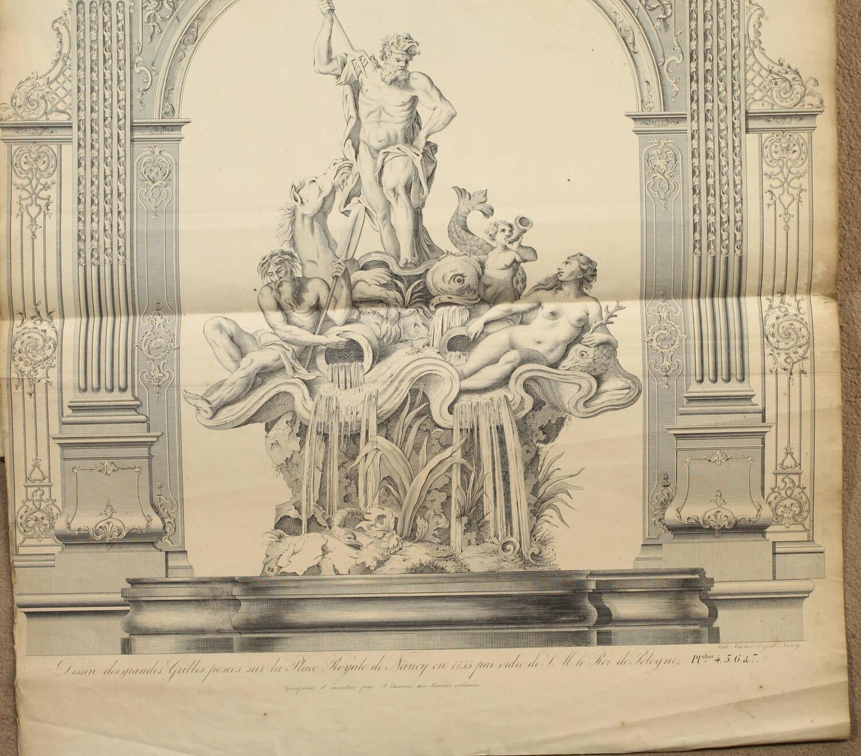 LAMOUR - Recueil des ouvrages en serrurerie de la place Royale à Nancy - XIXe - Photo 4, livre rare du XIXe siècle