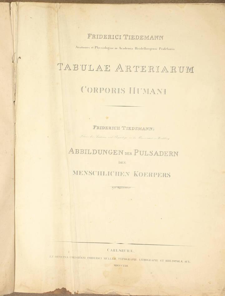 TIEDEMANN - Tabulae arteriarum - 1822 - In plano - Planches - Lithographies - Photo 3, livre rare du XIXe siècle