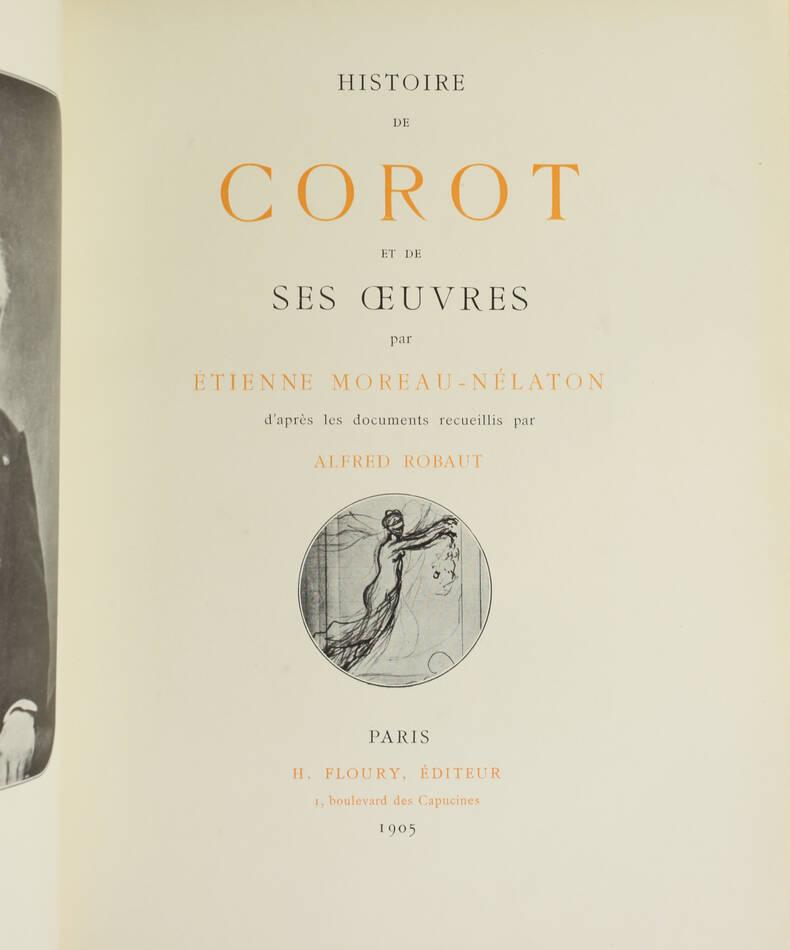 MOREAU-NELATON - Histoire de Corot - 1905 - Reliure de Durvand - Photo 2, livre rare du XXe siècle