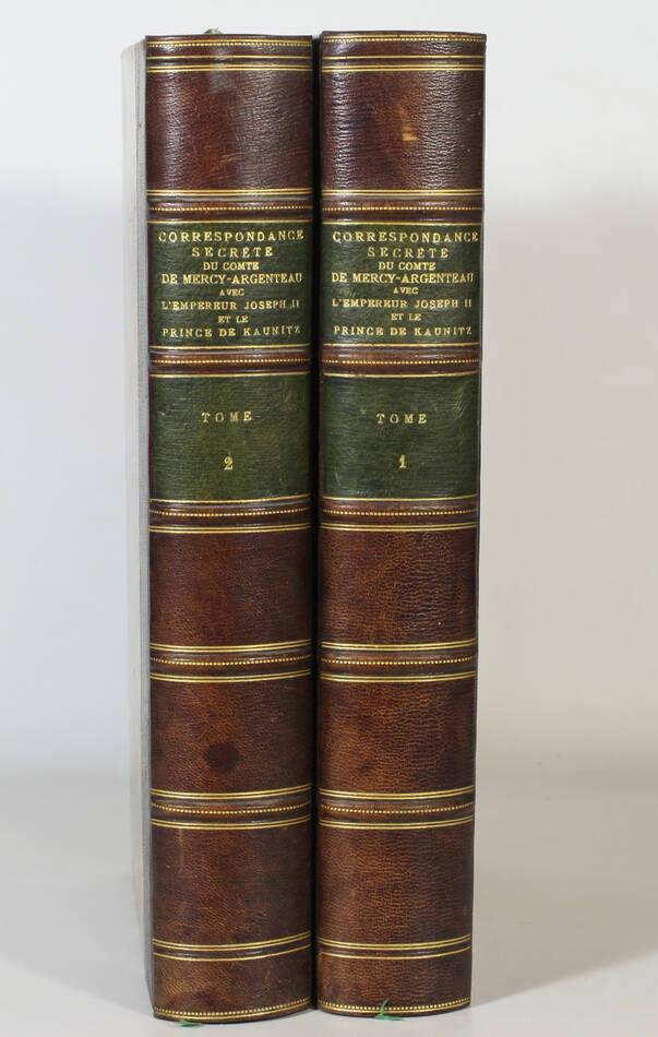 Correspondance secrète du Cte de Mercy-Argenteau avec Joseph II -  1889 - 2 vols - Photo 0, livre rare du XIXe siècle
