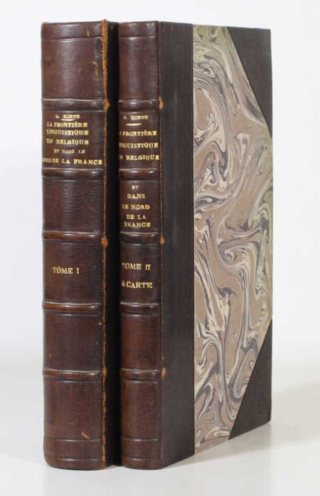 KURTH (Godefroid). La frontière linguistique en Belgique et dans le nord de la France, livre rare du XIXe siècle