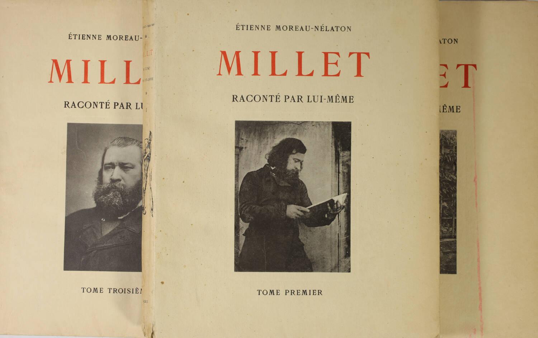 MOREAU-NELATON - Millet raconté par lui-même - 1924 - 3 volumes - Envoi - Photo 1, livre rare du XXe siècle