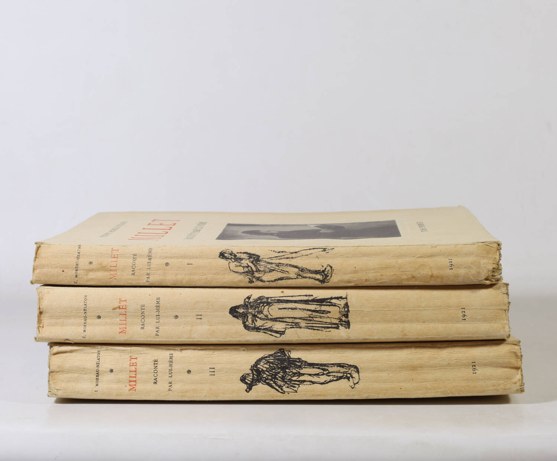 MOREAU-NELATON - Millet raconté par lui-même - 1924 - 3 volumes - Envoi - Photo 3, livre rare du XXe siècle