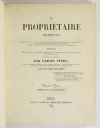 VITRY - Le propriétaire architecte - 1838 - In-4 - 100 planches - Photo 2, livre rare du XIXe siècle