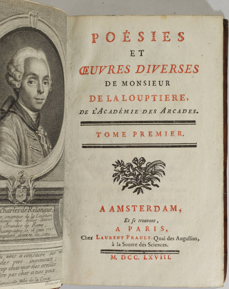 LA LOUPTIERE - Poésies et oeuvres diverses - 1768 - Photo 2, livre ancien du XVIIIe siècle