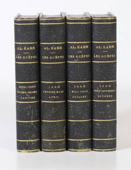 KARR - Les guêpes - 1839-1840 - Reliure de Bauzonnet-Trautz - Petits formats - Photo 0, livre rare du XIXe siècle