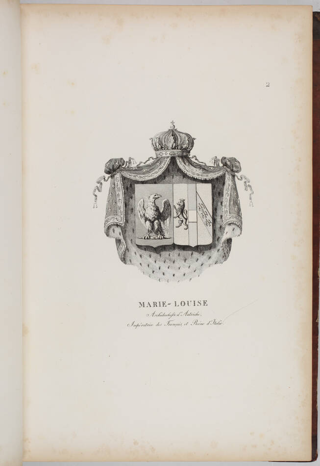 Simon - Armorial général de l Empire - 1812 - 2 tomes - In folio - Demi maroquin - Photo 9, livre ancien du XIXe siècle