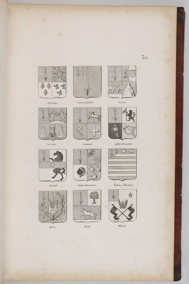 Simon - Armorial général de l Empire - 1812 - 2 tomes - In folio - Demi maroquin - Photo 10, livre ancien du XIXe siècle