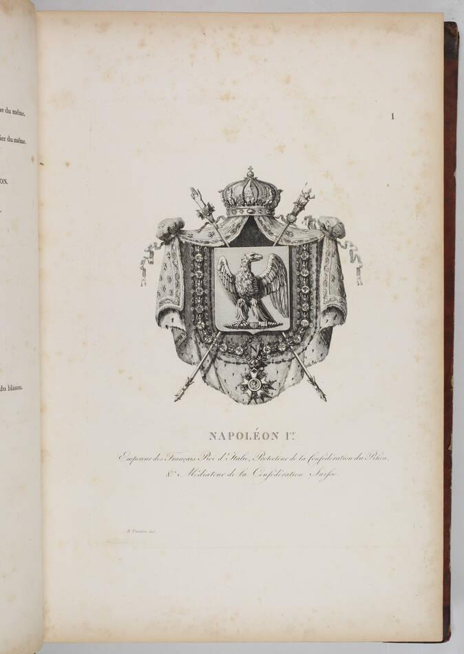 Simon - Armorial général de l Empire - 1812 - 2 tomes - In folio - Demi maroquin - Photo 1, livre ancien du XIXe siècle