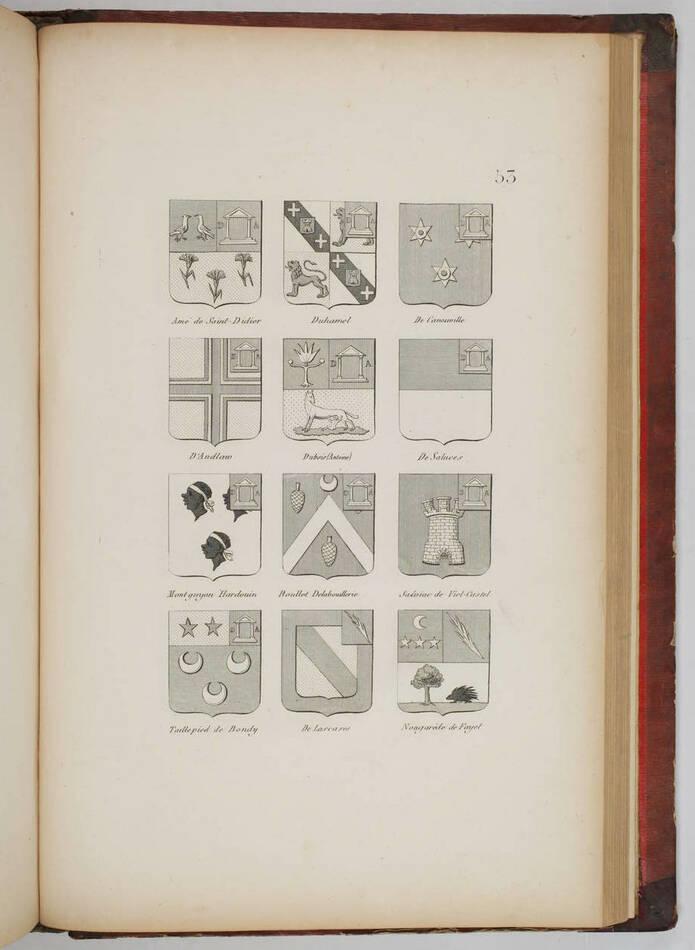 Simon - Armorial général de l Empire - 1812 - 2 tomes - In folio - Demi maroquin - Photo 6, livre ancien du XIXe siècle
