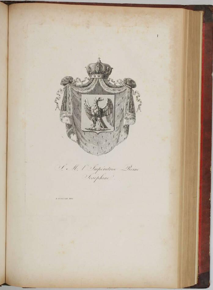 Simon - Armorial général de l Empire - 1812 - 2 tomes - In folio - Demi maroquin - Photo 7, livre ancien du XIXe siècle
