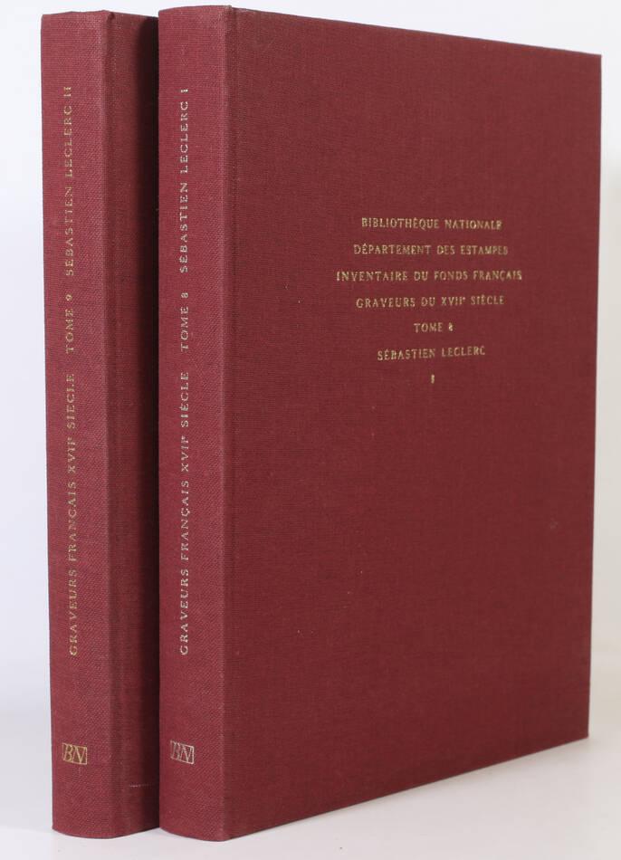 PREAUD - Inventaire des graveurs du 17e siècle - Sébastien Leclerc - 1980 - 2v - Photo 0, livre rare du XXe siècle